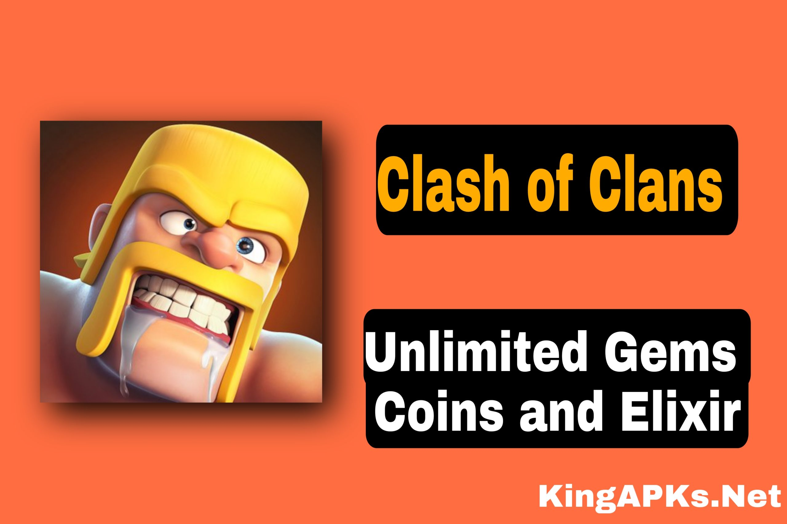 Clash of Clans Mod Apk v14.93.6 (Unlimited Gems, Troops Coins)